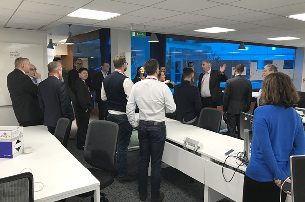 Suppliers being shown the digital working space