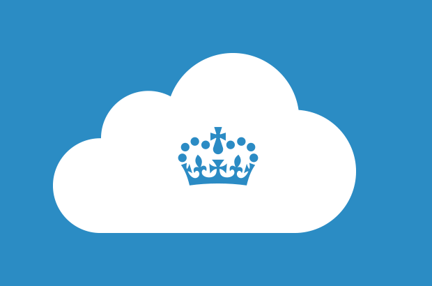 Cloud icon with crown logo