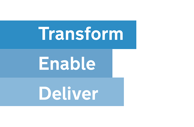 Transform, enable, deliver
